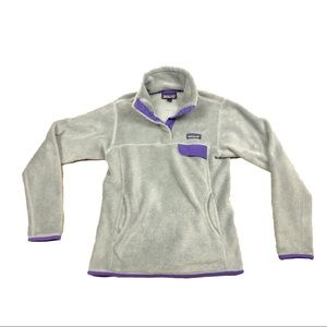 Patagonia Womens S Gray and Purple Re-Tool Snap T